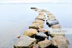 Stone path into sea