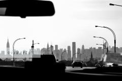 Taxi drive to Manhattan