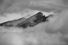 Gurglitzen and Böse Nase in clouds
