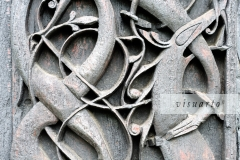 Wood carving of Urnes (detail)