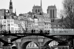 Pont des Arts and Pont Neuf with Notre Dame