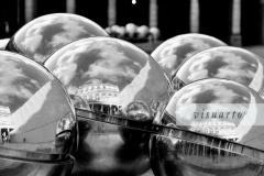 Chrome silver spheres balls