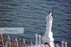 Goddess of Justice on top of Palazzo Ducalest